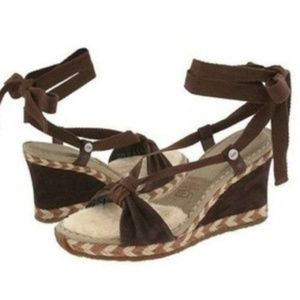 UGG AMELIE WEDGES ESPADRILLES OPEN TOE SANDALS 7